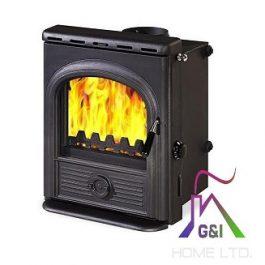 The Alpha Inset Boiler (Matt Black) 14.2kW