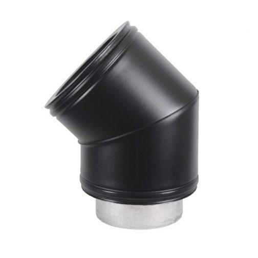Black 45 Degree Bend 143000