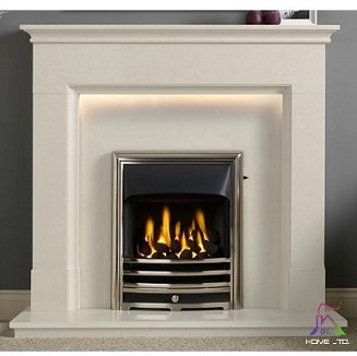 Langdon 48″ Arctic White Micromarble Suite c/w Lights