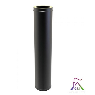 Twin Wall Flue Pipe 1000mm