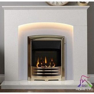 Cartmel 48″ Arctic White Micromarble Suite c/w Lights