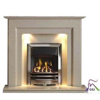 Stokesley 48″ Arctic White Micromarble Suite c/w Lights