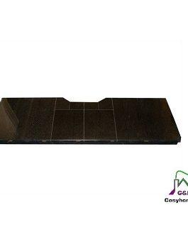 Polished Granite Filled Hearth 48″ x 18″