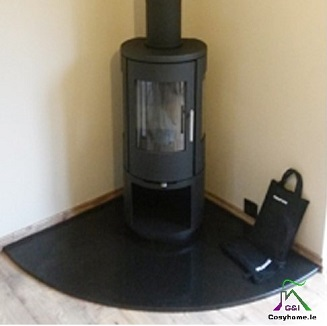 1200mm x 1200mm GLASS HEARTH QUADRANT