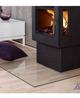 900mm x 900mm SQUARE GLASS HEARTH