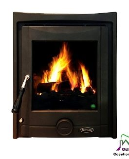 The Pollmore Inset 5kW (Black Matt)