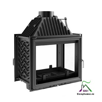 Amelia 25kw Right Double Side Glass Insert stove