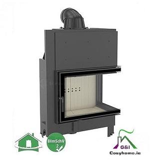 MBA 17kw Right Corner Glass Insert stove