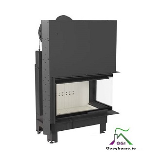 MBO 15kw Right Corner Glass Lift up Insert stove