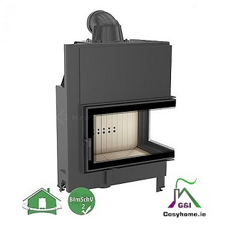MBO 15kw Right Corner Glass Insert stove