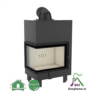 MBZ 13kw Left Corner Glass Insert stove