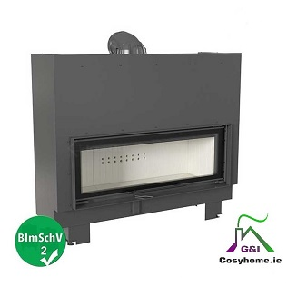 MB 120 22kw Lift up Glass Insert stove