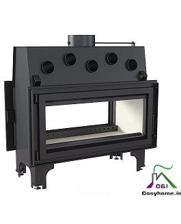 Mila 16kw Double Sided Insert stove