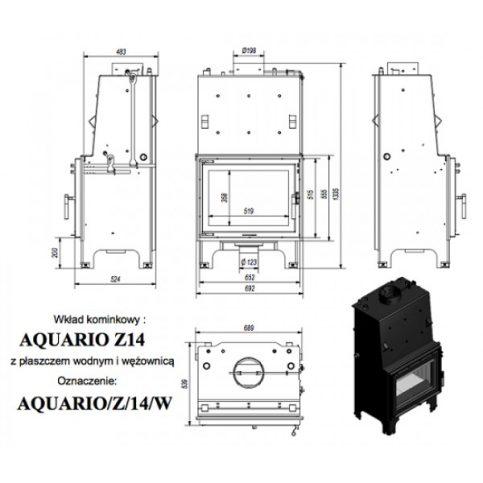Aquario Z 14kw Insert Boiler Stove
