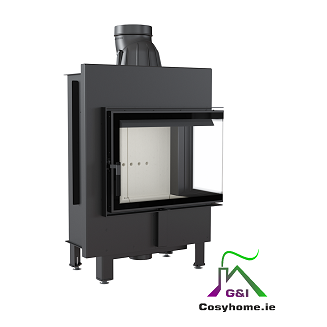 Lucy 12kw Right Corner Glass Insert Stove