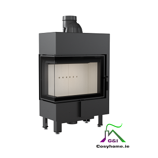 Lucy Slim 12 8kw Left Corner Glass Insert Stove