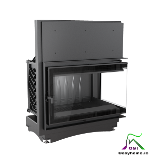 Oliwia 18kw Deco Right Corner Glass Insert Stove