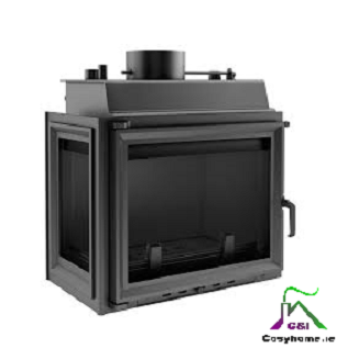 Maja 12kW Left Side Glass Insert Boiler Stove