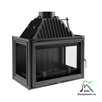 Oliwia 18kw Three Sides Glass Insert stove