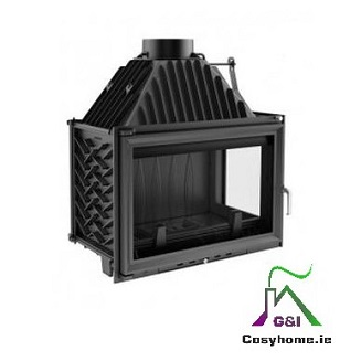 Oliwia 18kw Right Side Glass Insert stove