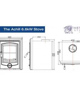 Achill 6.6kw Matt Black Insert stove