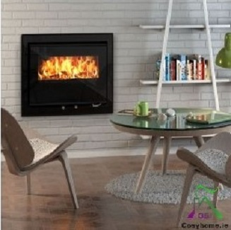 Cedarwood 615 4.7kW Black Glass Cassette stove
