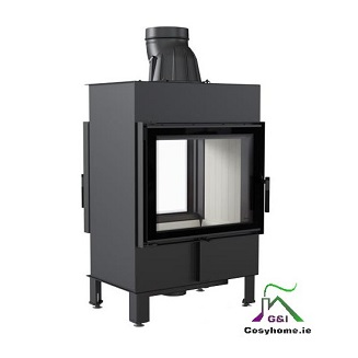 Lucy 12kw Double Sided Insert stove