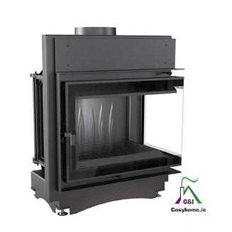 Maja 12kw Deco Right Corner Glass Insert stove