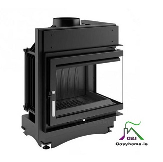 Maja 12kw Right Corner Glass Insert stove