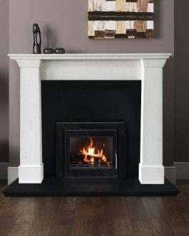Milan Fireplace Set with Insert stove, Fully Fitted