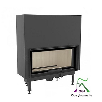 Nadia 14kw Lift Up Glass Insert stoves