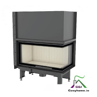 Nadia 14kw Lift Up Right Corner Glass Insert stove
