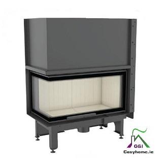 Nadia 14kw Lift Up Left Corner Glass Insert stove
