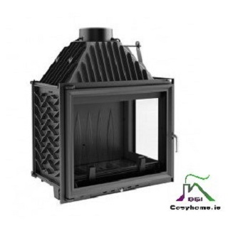Amelia 25kw Right Side Glass Insert stove
