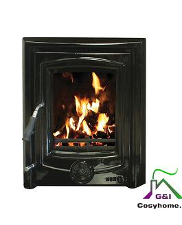 Achill 6.6kW Black Enamel Insert stove