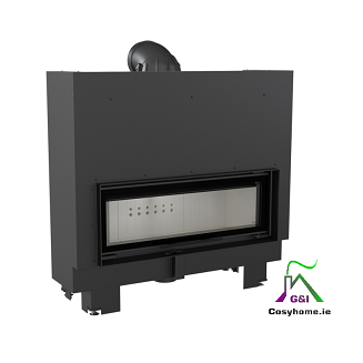 MB 100 14 kW Lift Up Glass Insert Stove