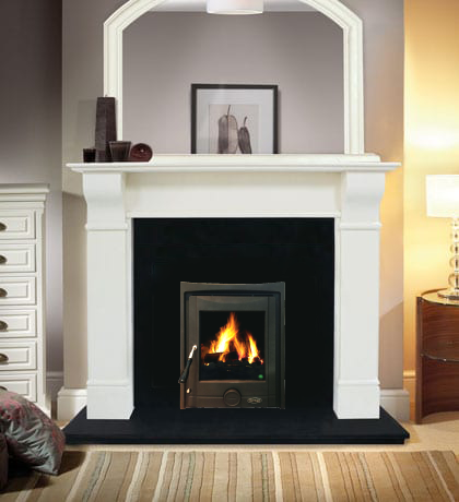 Naples Fireplace Set with Insert Stove, Fully Fitted