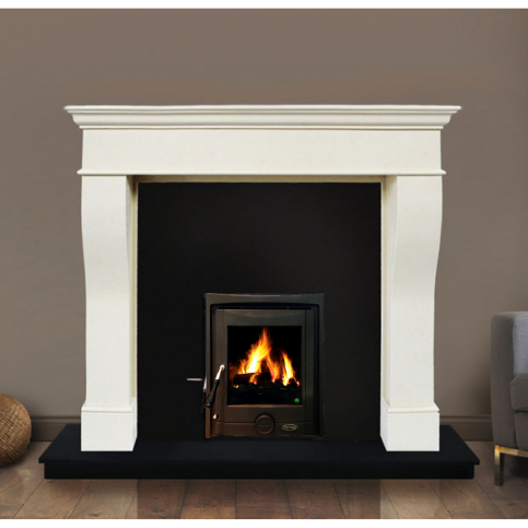 Pisa Fireplace Set with Insert Stove, Fully Fitted