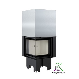 VN 480/480 Left 8kW Lift Up Glass Insert Stove