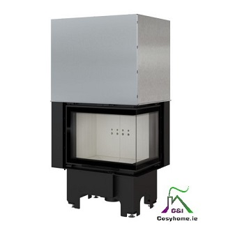 VN 610/430 Right 9kW Lift Up Glass Insert Stove