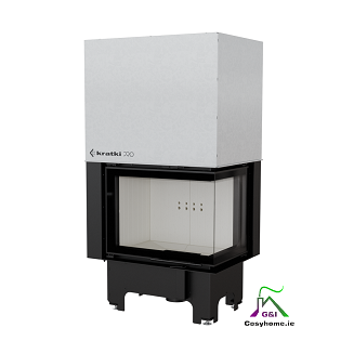 VN 700/480 Right 12kW Lift Up Glass Insert Stove