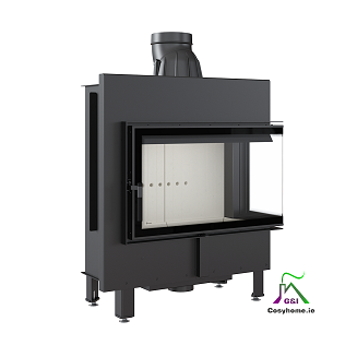 Lucy 14kW Right Corner Glass Insert Stove