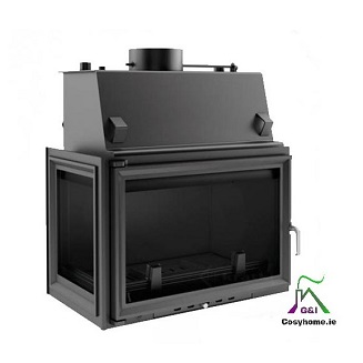 Oliwia 17kw Left Side Glass Insert Boiler stove