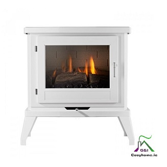 EKO 6030 White Plaig Glass Gas stove