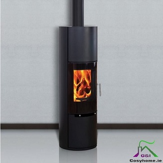 Elite H2 6kw White Ceramic Log Box stove
