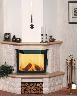 Rough Stone Fireplace