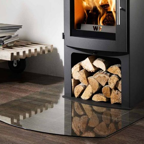 1100mm x 850 mm Truncated Glass Hearth