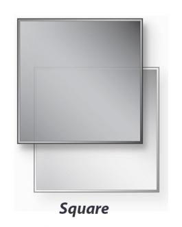 Glass Stove Hearth Square Shape