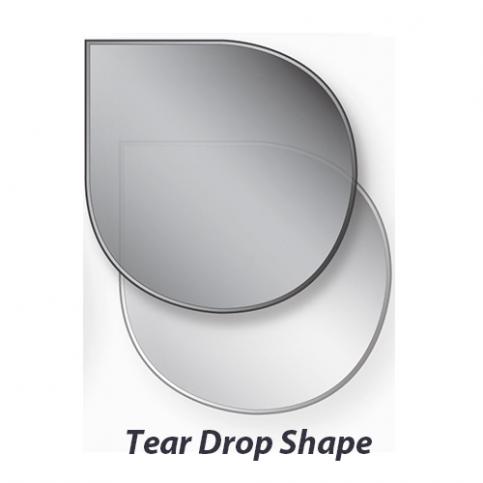 Glass Stove Hearth – Water Drop Shape
