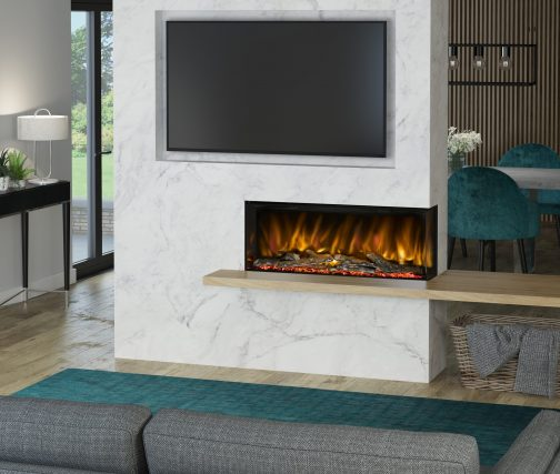 PRYZM ARTEON 1000-3SL TWO SIDED ELECTRIC FIRES